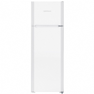 LIEBHERR CT 2931 fridge freezer with freezer on top in white